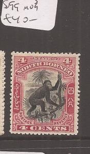 North Borneo 4c red monkey SG 99 MOG (1dca)
