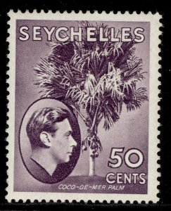 SEYCHELLES GVI SG144a, 50c deep reddish violet , M MINT.