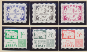 Jersey Stamps Scott #J1 To J6, Mint Hinged - Free U.S. Shipping, Free Worldwi...