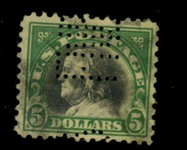 524 Used F-VF Perf initials Cat$35