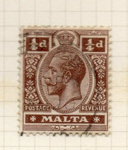 Malta 1921-22 Early Issue Fine Used 1/4d. 321544