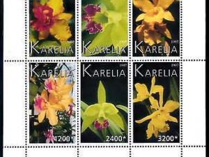[79938] Karelia Local Issue 1997 Flora Flowers Blumen Orchids Sheet MNH