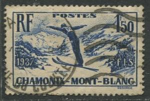 France - Scott 322 - General Issue -1937 - FU -Single 1.50fr Stamp