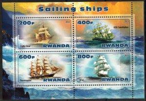 Rwanda 2013 Sailing Ships Boats (1) MNH Cinderella !