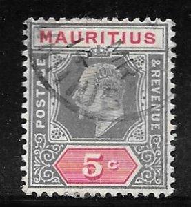 Mauritius 141: 5c Edward VII, used, F-VF