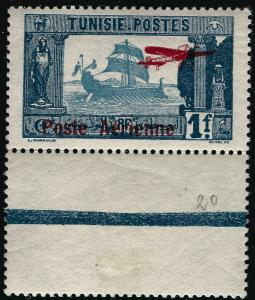 French Tunisia (Scott C3) MNH F-VFr..With valuable selvage attached!!