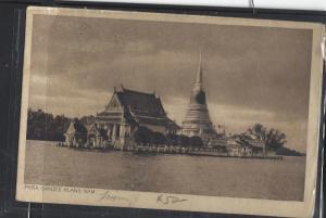 THAILAND (P0901B)  1914   PPC  PHRA CHADEE KLANG NAM STAMP OFF TO BELGIUM