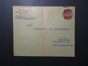 Germany Danzig 1926 Cover to Gotha / Center Fold - Z12189