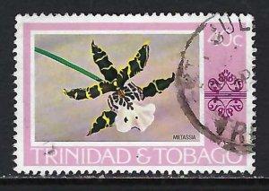 TRINIDAD & TOBAGO 286 VFU ORCHID X499-8
