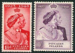 PITCAIRN ISLANDS-1948 Royal Silver Wedding Set Sg 11-12 UNMOUNTED MINT V33396