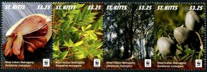 HERRICKSTAMP NEW ISSUES ST. KITTS Sc.# 934 WWF West Indian Mahogany Fruit