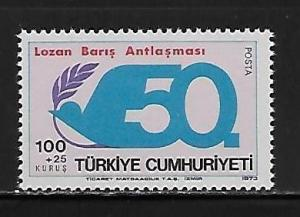 Turkey B147 50th Treaty of Lausanne single MNH