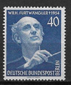 1955 Berlin 9N115 Conductor Wilhelm Furtwangler MNH