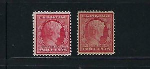 US #367-369 (BLUISH PAPER) 1909 LINCOLN CENTENARY OF BIRTH- MINT NEVER HINGED