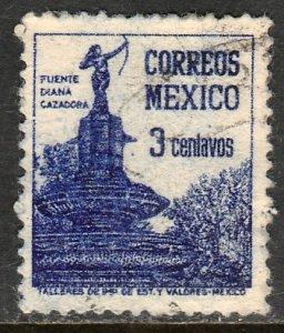 MEXICO 805, 3cents Diana the Huntress Fountain. Used. F-VF. (831)