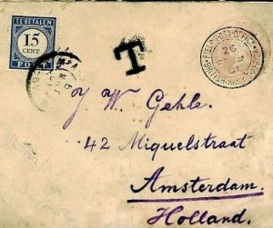 South Africa Cover BOER WAR Rejected CONCESSION RATE Underpaid TAXE 1901 O222b