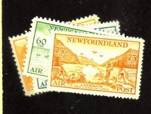 Newfoundland #C13-17 MINT FVF OG HR Cat$185