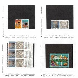 Lot of 61 U.N. United Nations Geneva MNH Stamps Scott Range # 154-206 #149743 X