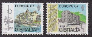 Gibraltar # 499-500, Europa - Buildings, NH, 1/2 Cat.