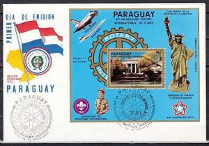 Paraguay, Scott cat. C595 A. Rotary International. Scouts, First day cover. ^