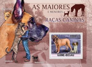 GUINE BISSAU 2010 SHEET DOGS CHIENS PERROS HUNDEN CANI CAES gb10501b