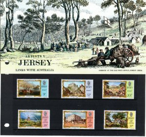 1984 Jersey Sg 344/349 Jersey Artists (5th series) Presentation Pack