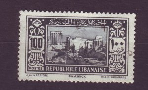 J23995 JLstamps 1930-5 lebanon hv of set used #134 very light thin area f/hinge