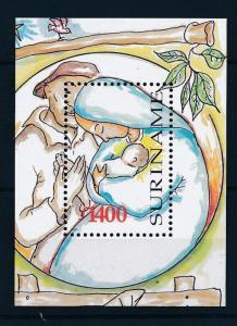 [SU1002] Suriname Surinam 1998 Christmas Souvenir Sheet MNH
