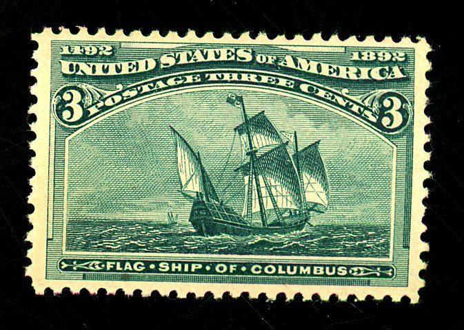 U.S. #232 MINT VF-XF OG LH Cat $35
