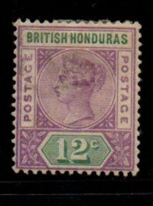 British Honduras Sc 44 1891 12c violet & green Victoria stamp mint