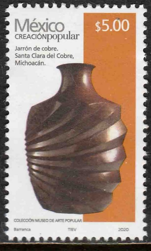 MEXICO 3166, $5.00 POPULAR ARTIFACTS 2020. MINT, NH. VF.