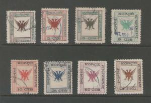 Albania 1917 Sc 54-61 set of 8 FU