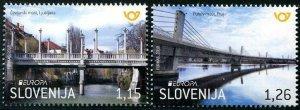 HERRICKSTAMP NEW ISSUES SLOVENIA Sc.# 1275-76 EUROPA 2018 Bridges