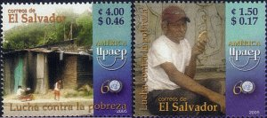 EL SALVADOR UPAEP FIGHT AGAINST POVERTY Sc 1634-1635 MNH 2005
