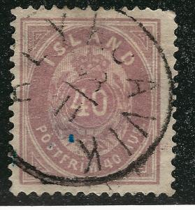 Iceland 1882 Sc#18 Used F-VF HH Cat $47.50...Quality Bargain!