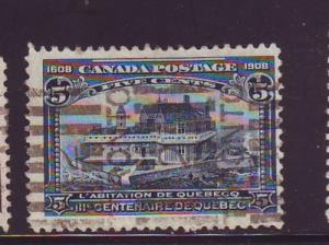 Canada Sc 99 1908 5 c Champain's House stamp used