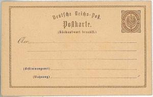 GERMANY - Postal Stationery Card postkarte ganzache: Michel # P3 - double card