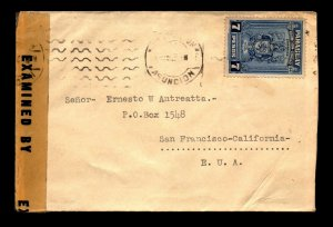 Paraguay 1942 Censor Cover to USA - L11024