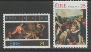 IRELAND SG654/5 1986 CHRISTMAS MNH