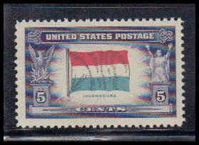 912 5c Flag of Luxembourg Fine MNH W3806
