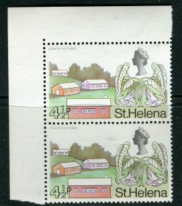 ST. HELENA; 1968 early QEII Pictorial issue fine MINT MNH Corner Pair, 4.5p