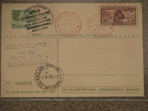 Italy, Helicopter Flt. to Swiss., Special Helicopter Cancel, G. Chavez 1910-50
