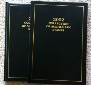 Australian Mint Stamp Yearbook 1991 Collection Book Leather Executive Deluxe Del