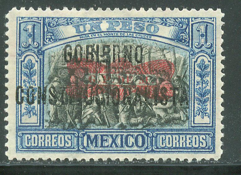 MEXICO 537, $1P CORBATA & $ REVOLUTIONARY OVERPRINTS UNUSED, H OG. F-VF.