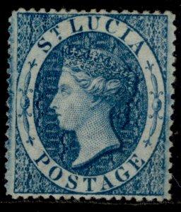 ST. LUCIA QV SG2, (4d) blue, UNUSED. Cat £225.