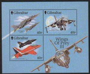 Gibraltar MNH S/S Fighter Planes 2001