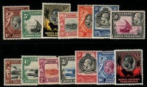 KENYA, UGANDA & TANGANYIKA SG110/23 1935-7 DEFINITIVE SET MTD MINT