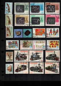 Mozambique  25  diff used and mint lot collection