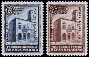 San Marino Scott 155-156 (1934) Mint VLH VF, CV $8.00