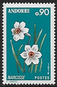 Andorra (French) # 227 - Narcissus - MNH